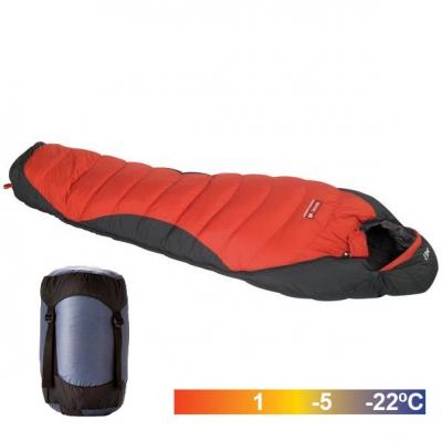 Saco de pluma. 450 gr. 80/20. -5 ºC